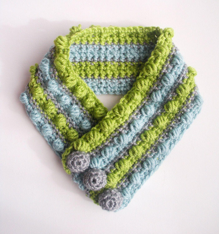 Crochet scarf crochet scarf gumdrops wool bamboo unisex striped sassy chic crochet scarf pattern for kids women my little be stylish dt1010fo