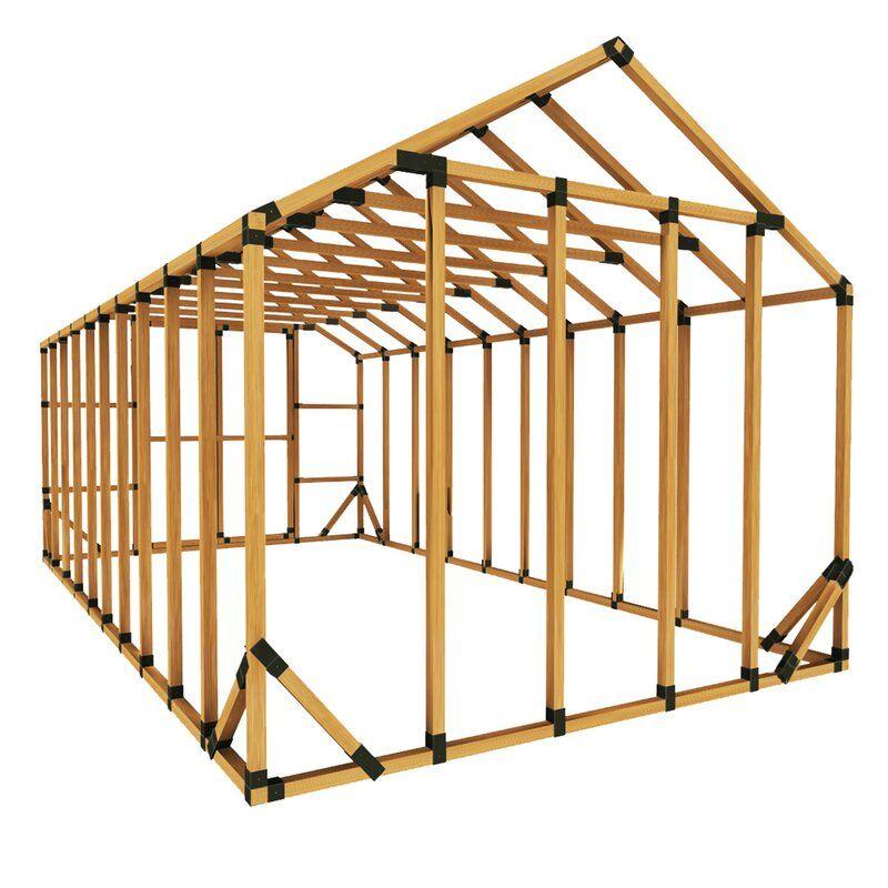 10 W X 20 D Diy Storage Shed Kit In 2020 Diy Storage Shed Storage Shed Kits Diy Shed Plans