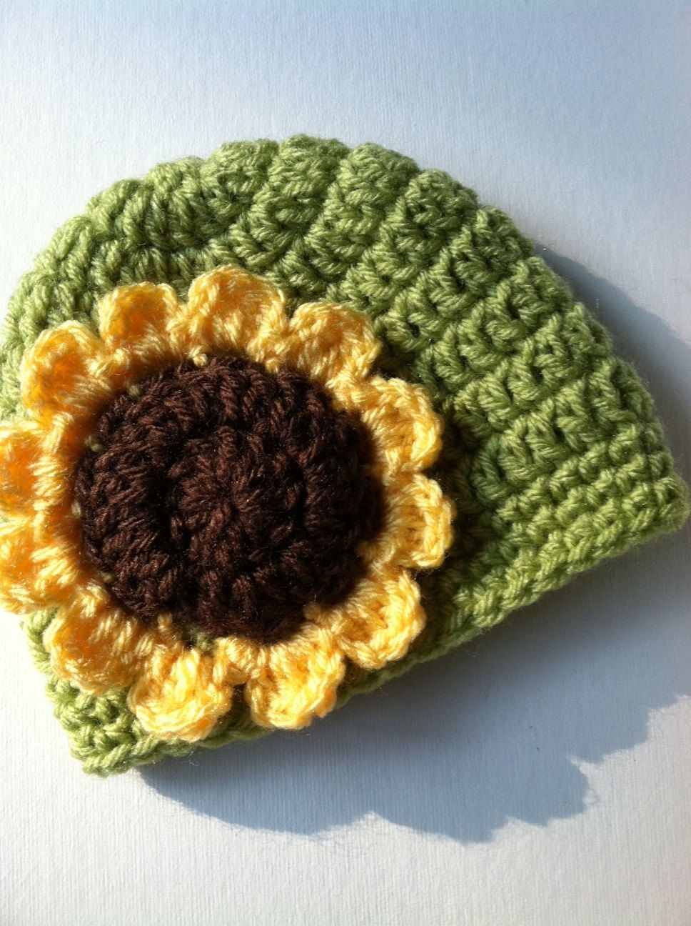 GORRITO DE GIRASOL | Crochet | Pinterest | Mütze, Sonnenblumen und ...