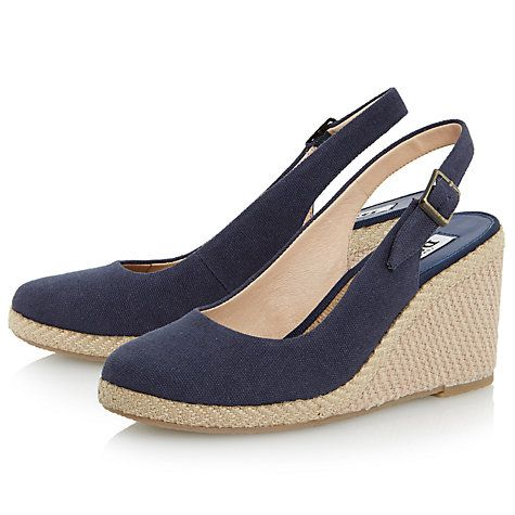 90ebbc7264 Buy Dune Karley Canvas Wedge Heeled Sandals Online at johnlewis.com ...