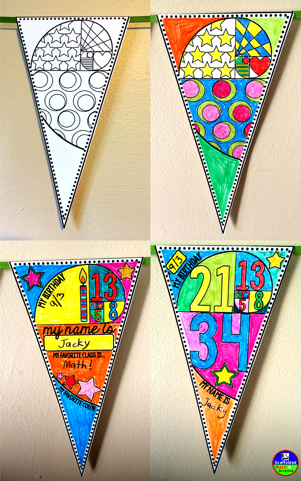 Back To School Pennant A Math Glyph Back To School Art Activity School Art Activities Back To School Art [ 1536 x 960 Pixel ]