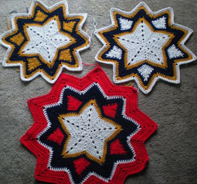 Ravelry: 5-10 point STARBURST Round Ripple by Michele Shirley