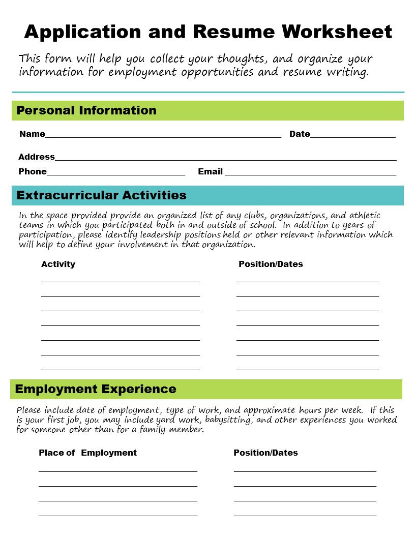 skills job application