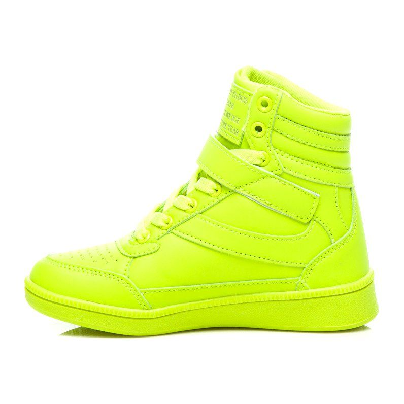 Pretty Women Seledynowe Trampki Zielone Wedge Sneaker Sneakers High Top Sneakers