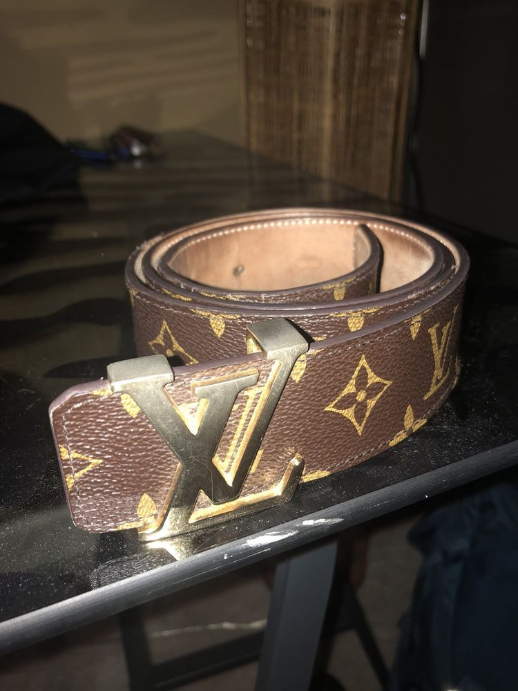 Louis Vuitton Mens Monogram Belt Size 40 100 Cm fashion