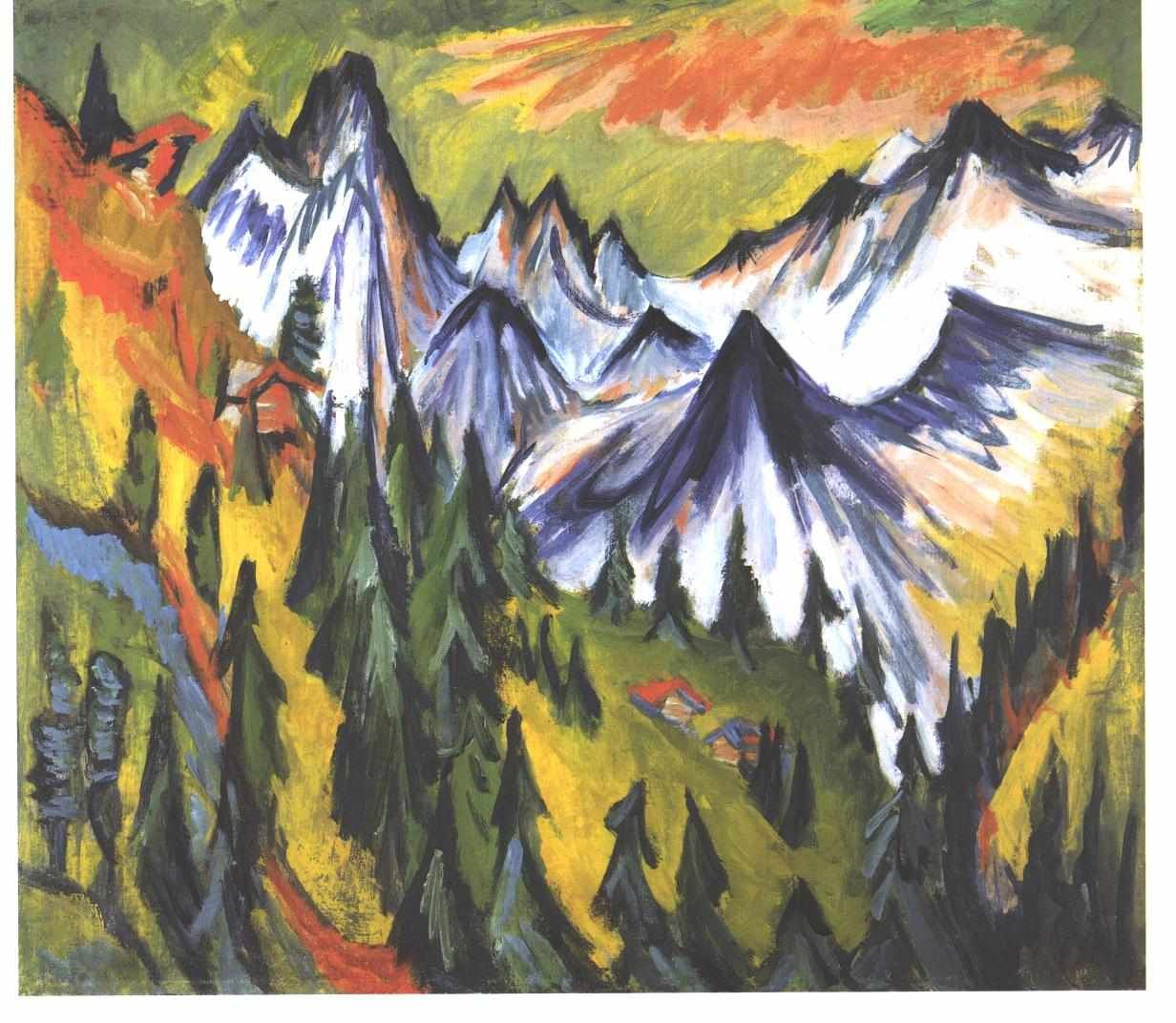 Mountain Top by @artistkirchner #expressionism