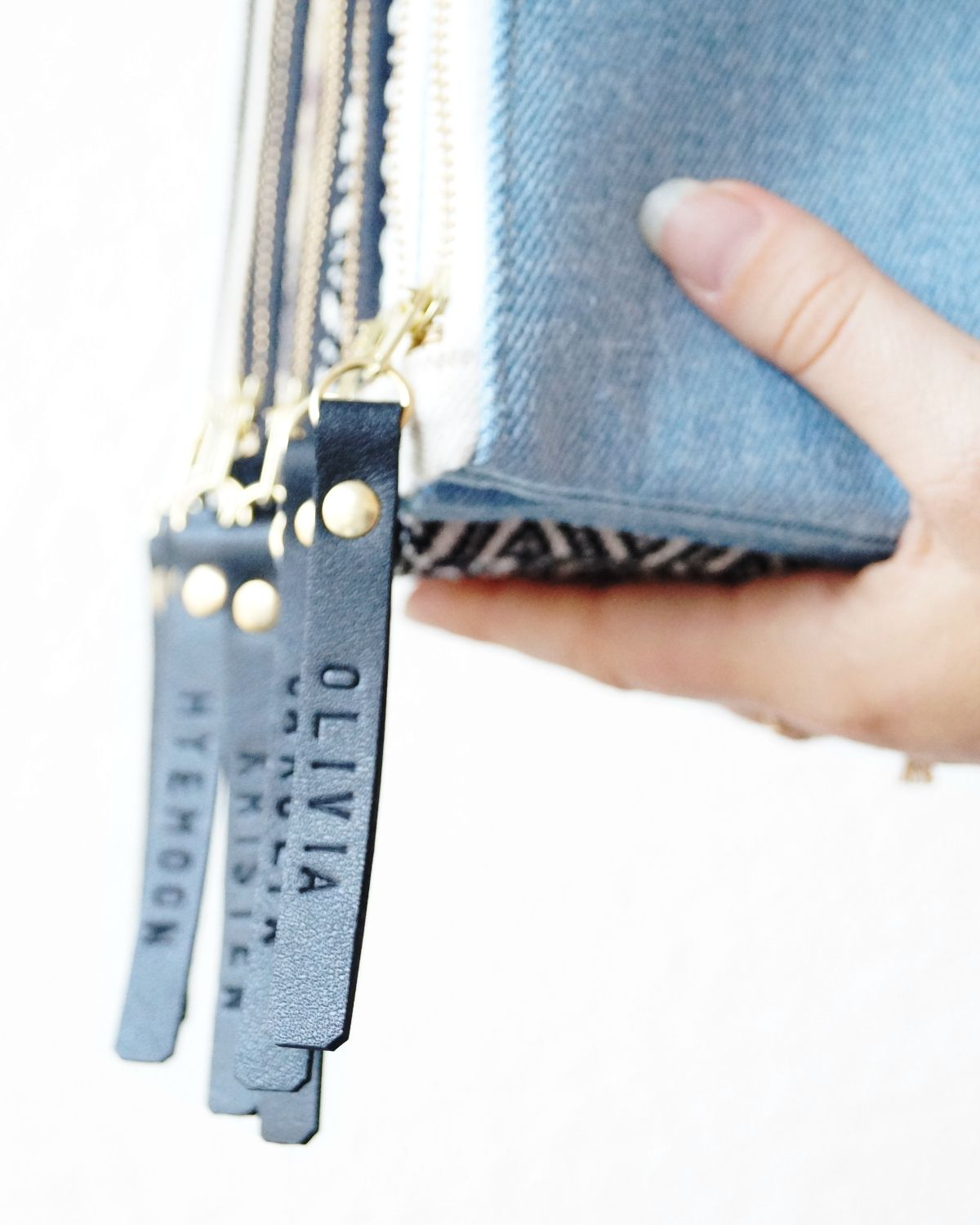 Monogramming Upgrade For Zipper Pulls Personalize Bridesmaid Gift