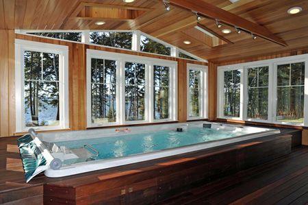 Endless Pools indoor swim spa | Interior Swimming Pool | Pinterest ...