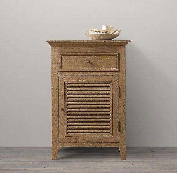 Shutter Small Bath Cabinet Restoration hardware, | hall powder ...