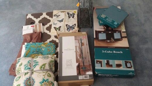 Clearance: Coat Rack $29, Cube Bench $29, and Fabric cubes $4.98/pc