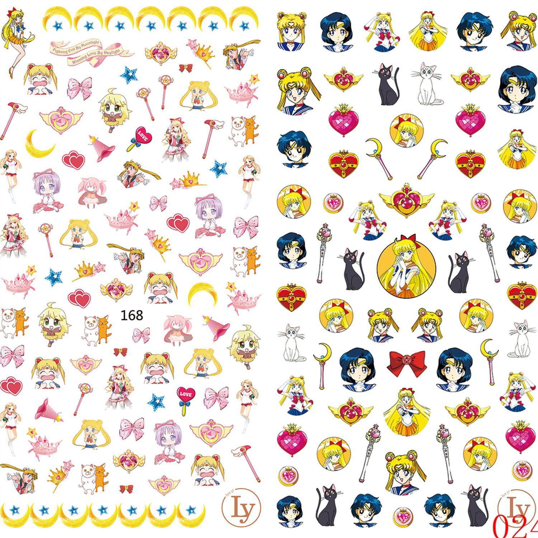 anime nail art stickers