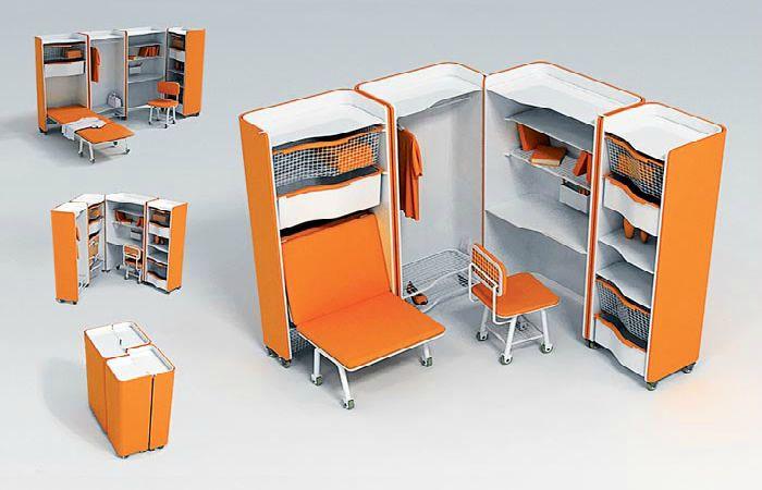 Мебель, которая сэкономит пространство маленькой квартиры.