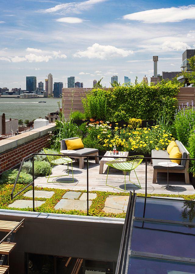 Tribeca Loft Architecture Interiors Terrace Green Roof