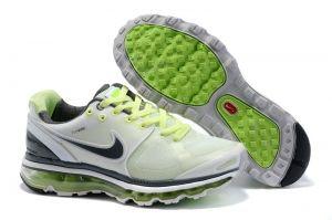 RTyu3988 Femme Nike Air Max 2009 Netty Blanc Vert