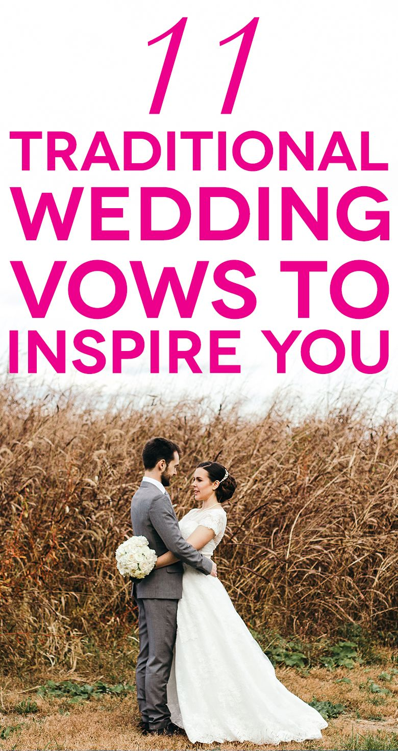 Wedding Vows | Traditional wedding vows, Wedding vows and Wedding ...