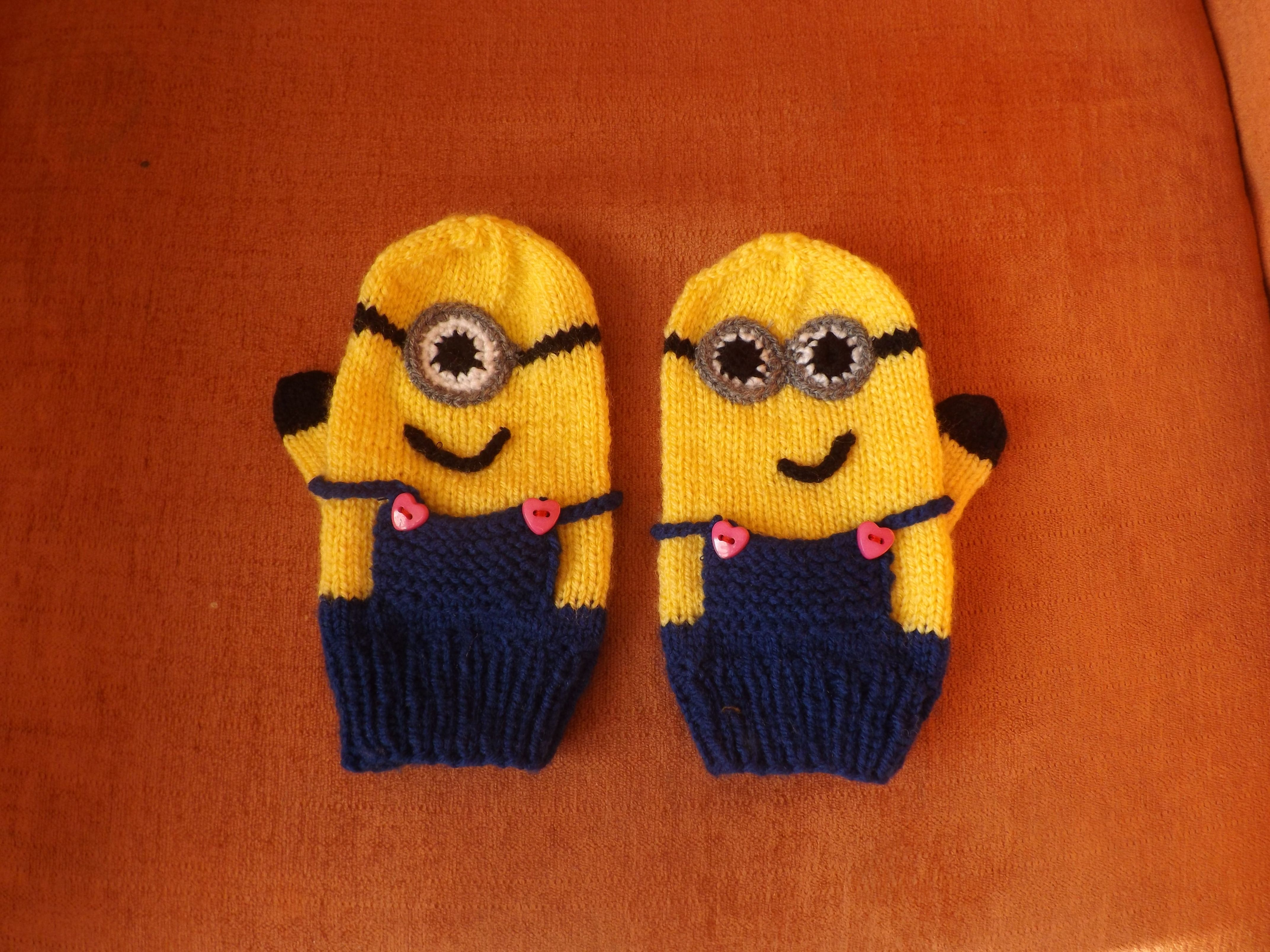 Minions Handschuhe stricken | Stricken | Pinterest | Handschuhe ...