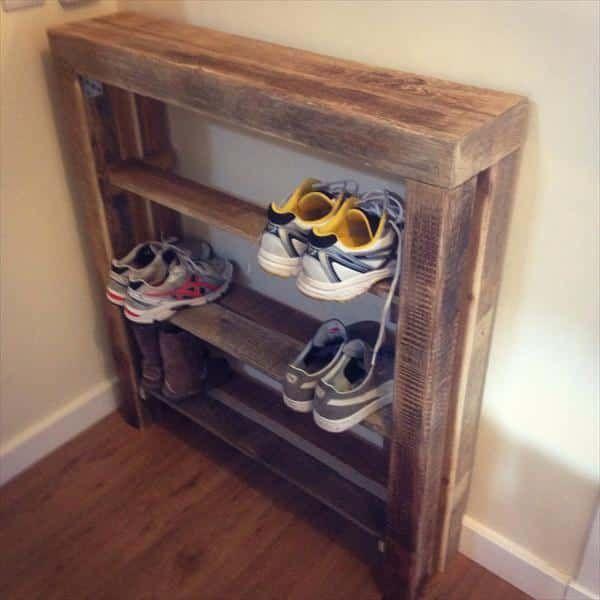 Zapatero hecho con palets muebles utiles muebles con for Muebles hechos con palets de madera