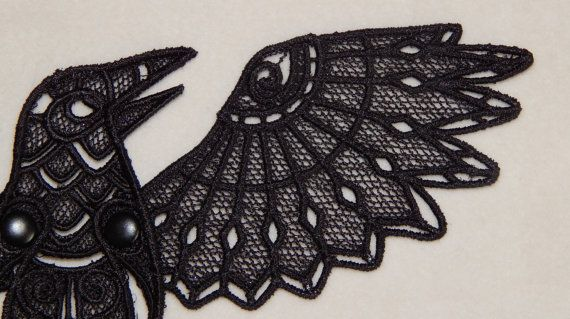 Lace Raven by MagickalMiscellany on Etsy, $50.00