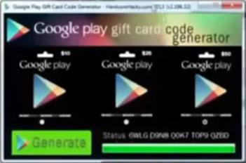 Google Play Carte Cadeau Generateur De Code Generateur De Code Cartes Gratuites Generation