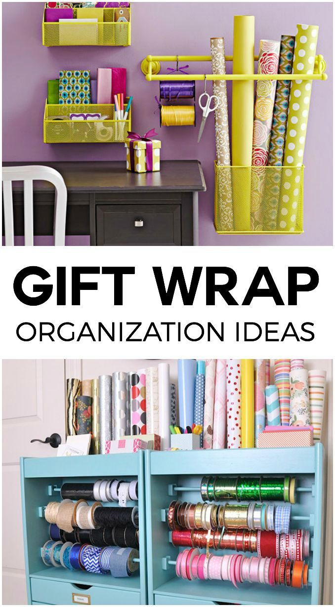 These Gift Wrap Storage Ideas are the perfect thing to help you stay (or get) organized!