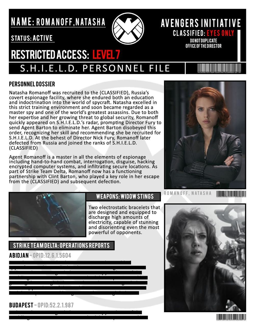 S H I E L D  Files | Black Widow | Marvel avengers, Marvel