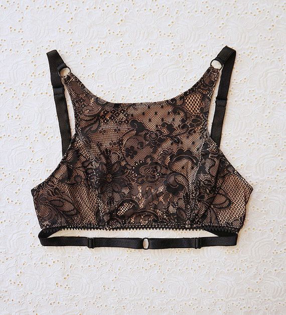 KITRI Lace Crop Bra Top with Convertible Straps by ElmaShop, $65.00