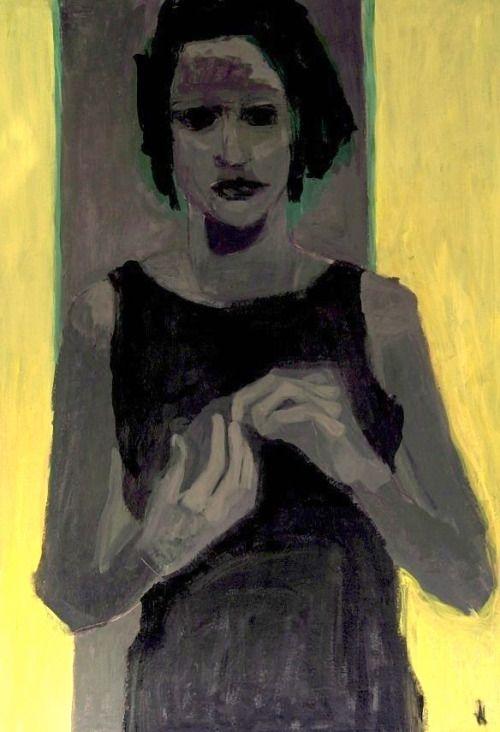 Barbara Krollwoman (100x70 cm)acryl on cardboard, 2015