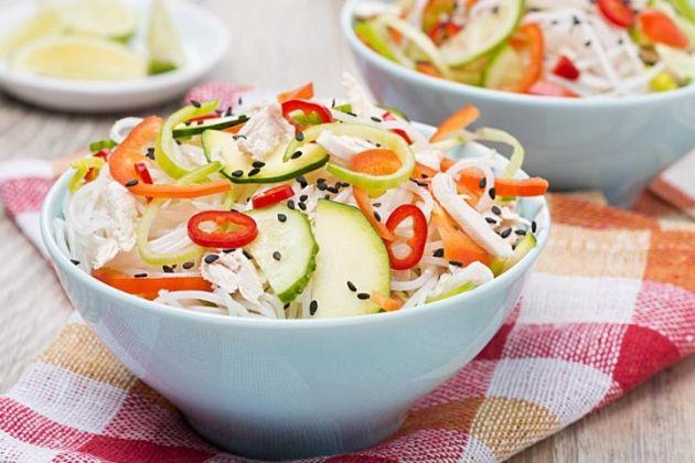 Skinny Points Recipes  » Thai Noodle Salad