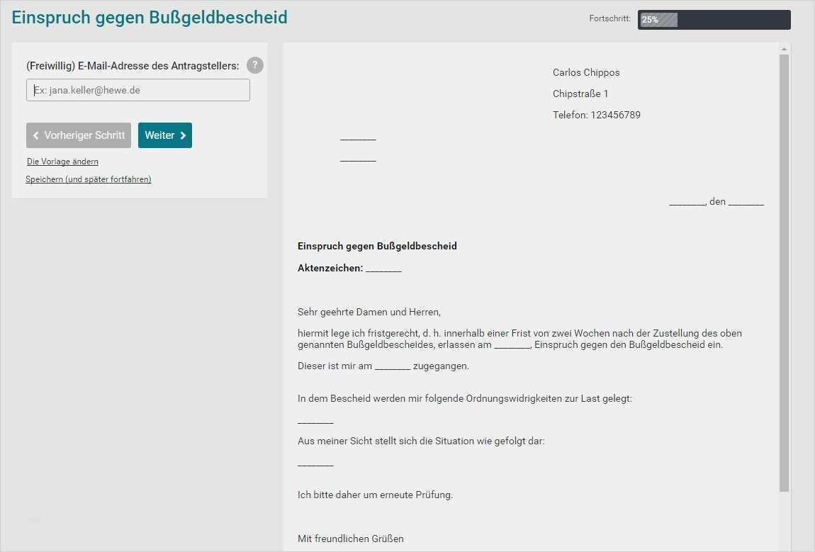 Einspruch Gegen Bussgeldbescheid Muster Zum Download 15