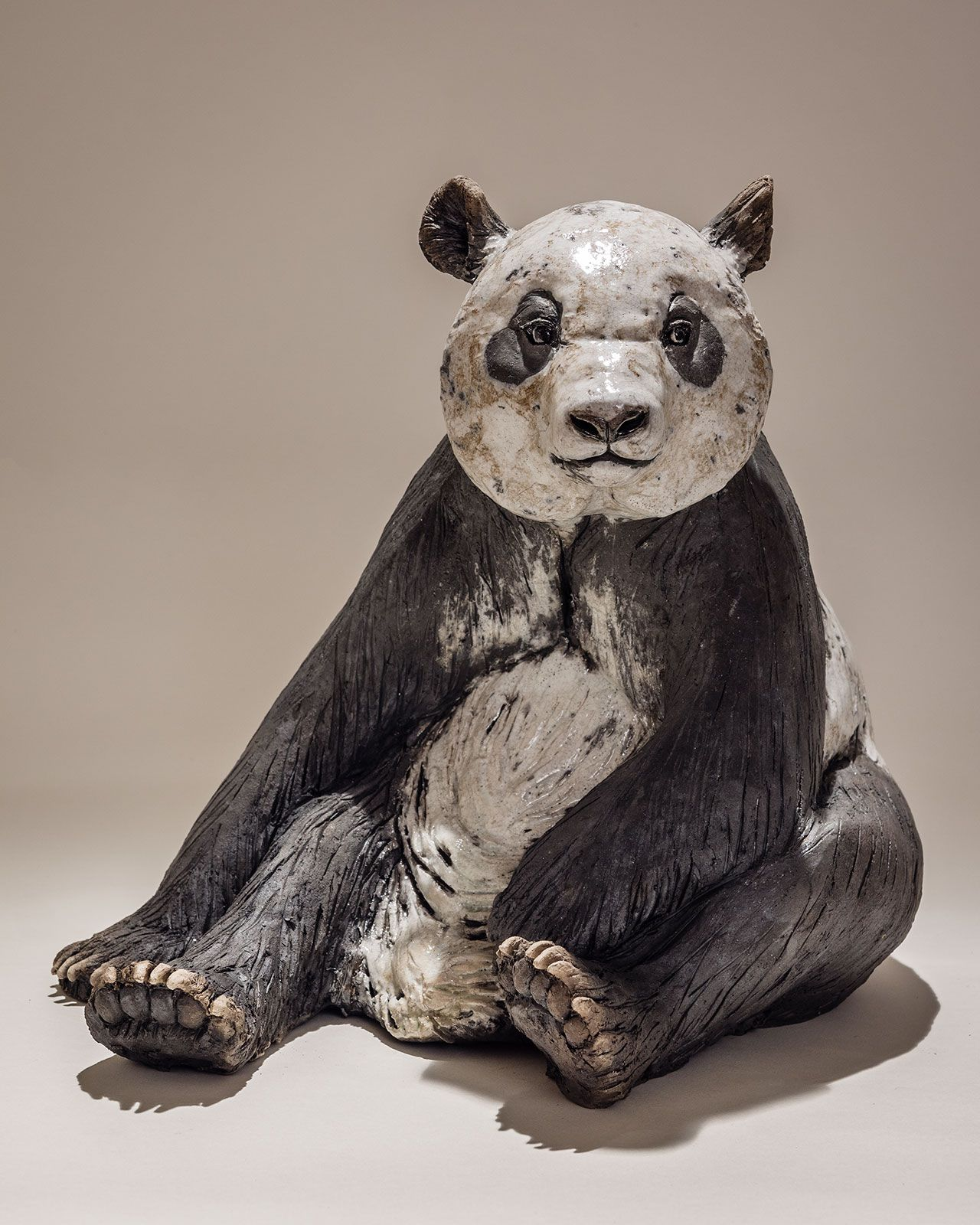 panda sculpture sculpture pinterest sculpture bois terre cuite et raku. Black Bedroom Furniture Sets. Home Design Ideas