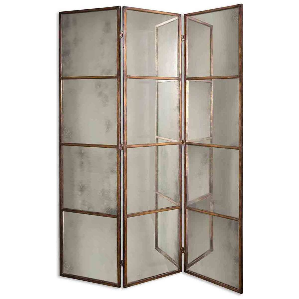 Uttermost avidan panel screen mirror p room divider screen