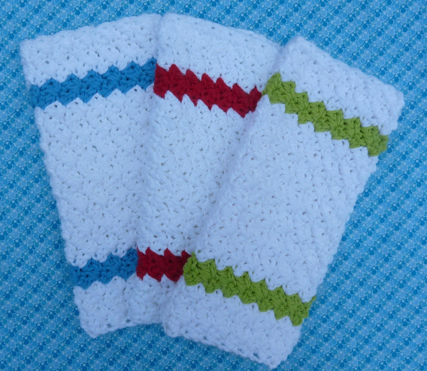 Whiskers & Wool: Simple Stripes Dishcloth - Free Pattern and dish ...