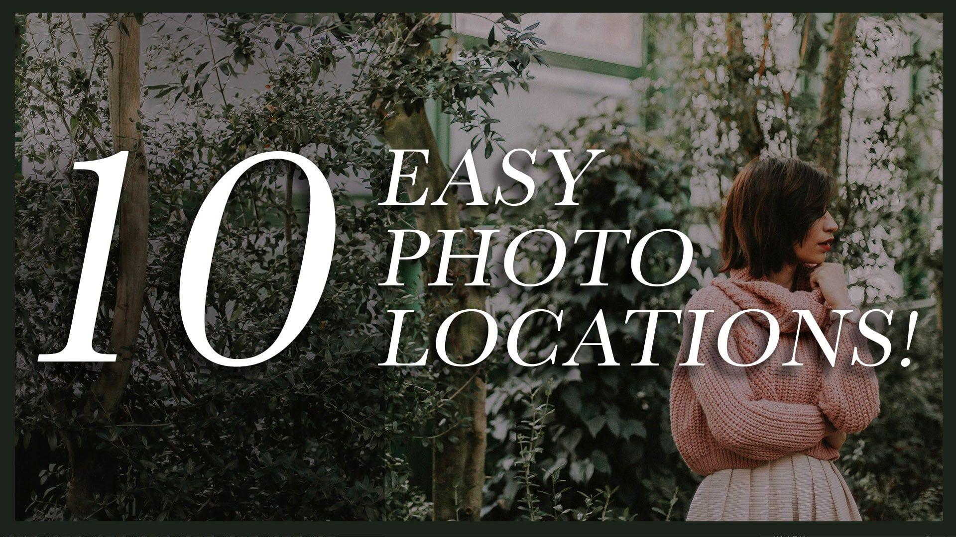Photoshoot locations ideas
