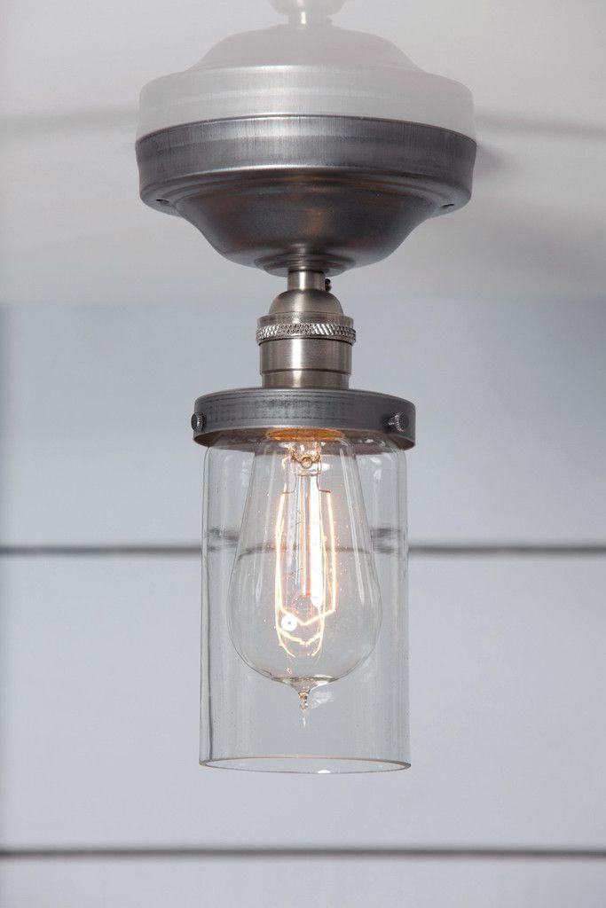 6138036ea2ab Cylinder Glass Shade Light - Semi Flush Mount