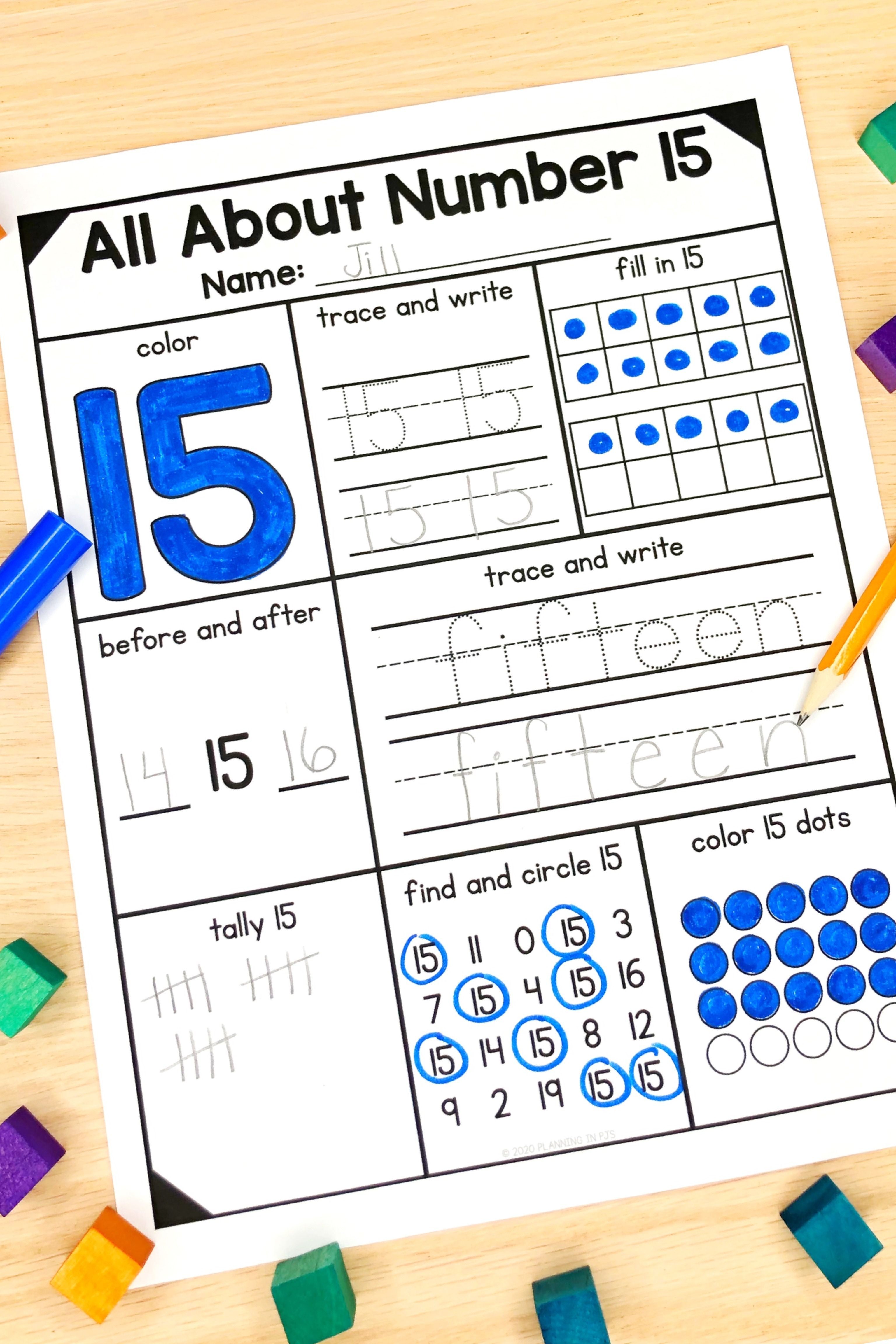 Number Representations From 11 To 20 In