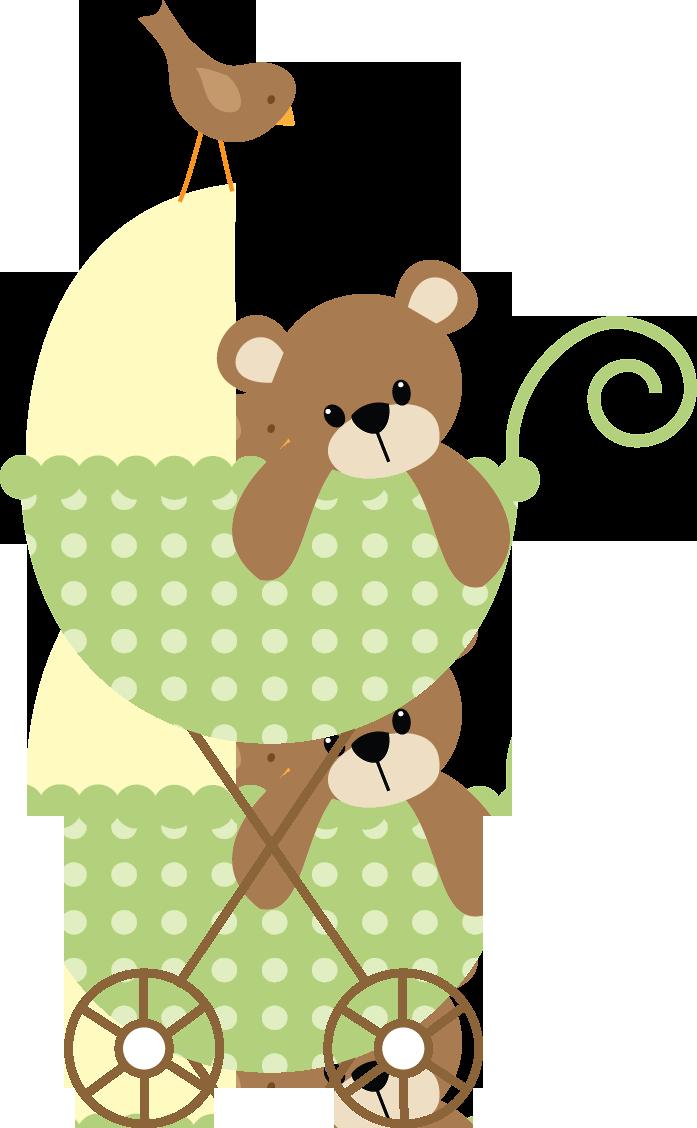 Bebê (Menino e Menina) 3 - green stroller.png - Minus