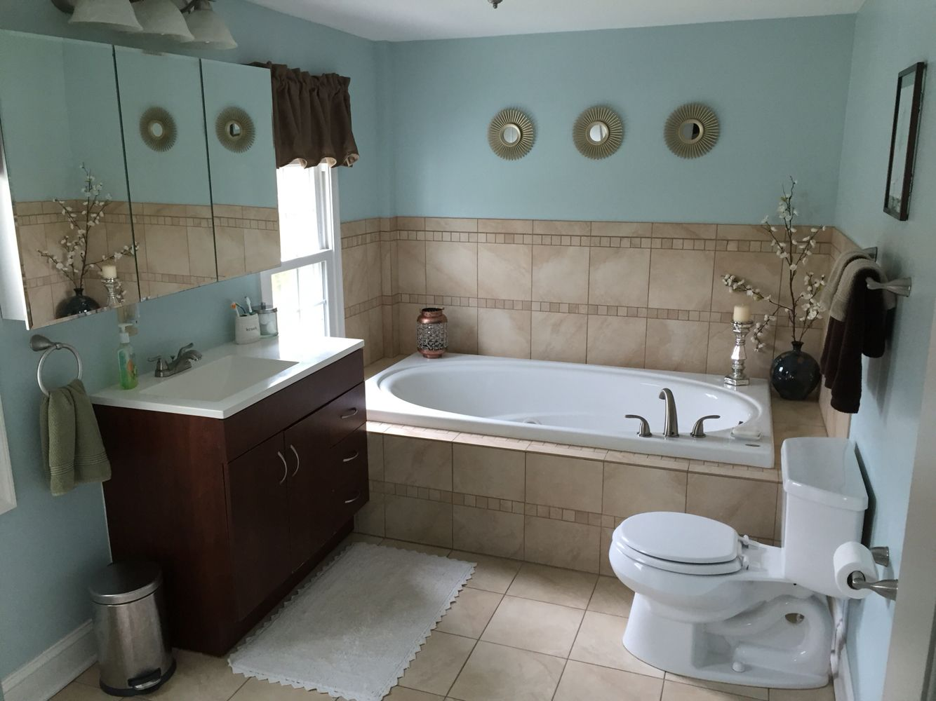 Bathroom Color Ideas With Brown Tile