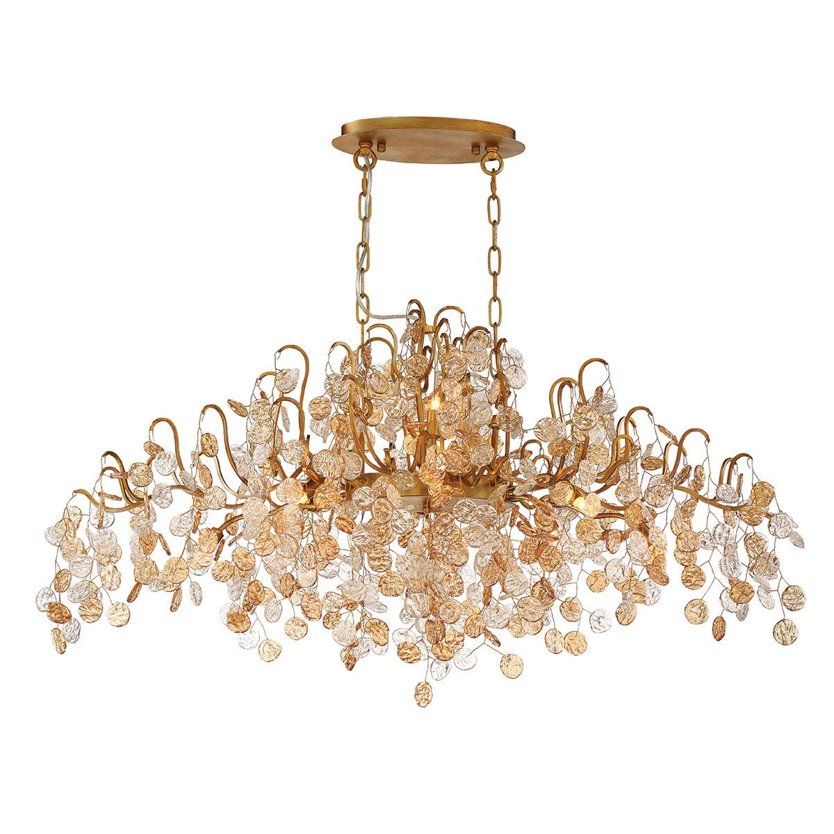 campobasso 10 light oval chandelier by eurofase 29061 013