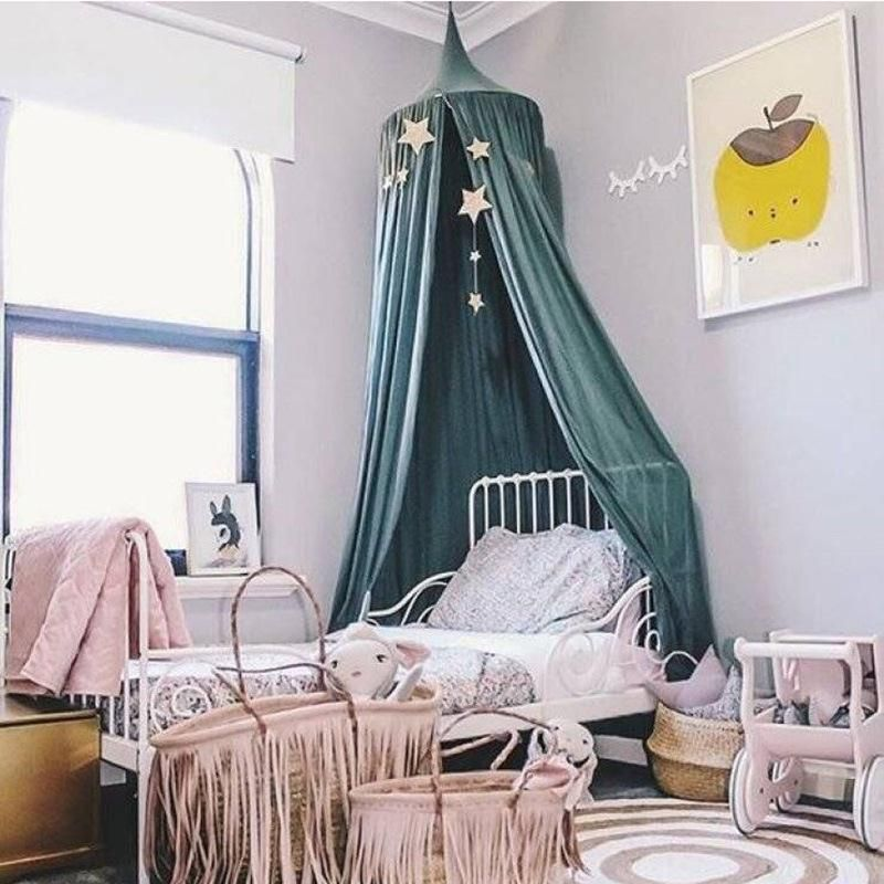 2017 New Canopy Kid Child Bedding Round Dome Bed Canopy Bedcover Mosquito Net Curtain Decor free & 2017 New Canopy Kid Child Bedding Round Dome Bed Canopy Bedcover ...
