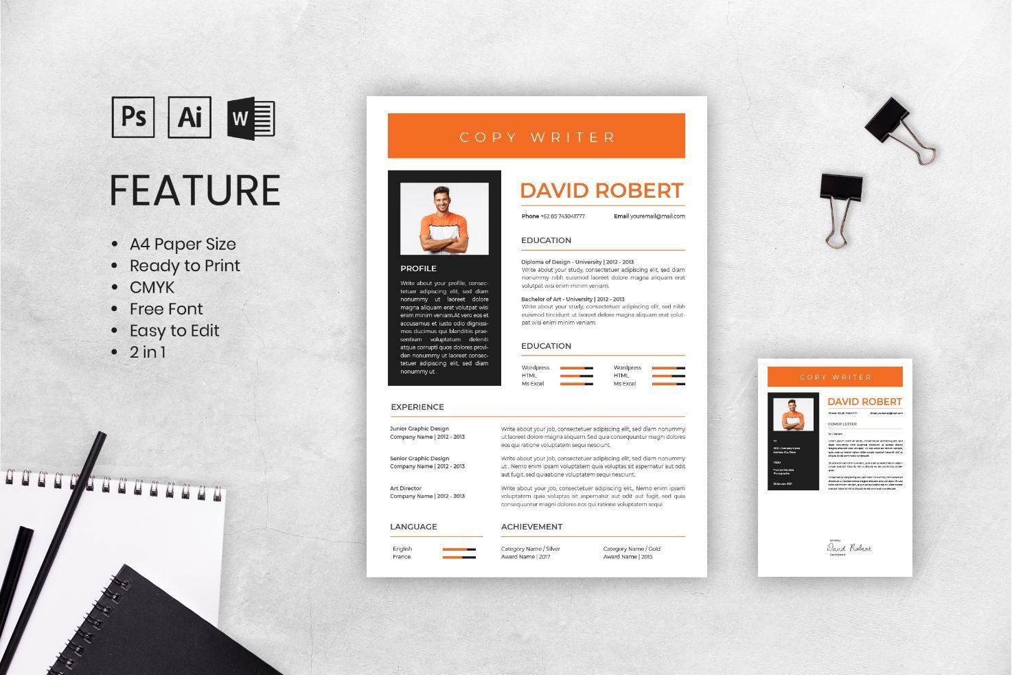 Modern Resume Template in 2020 Modern resume template