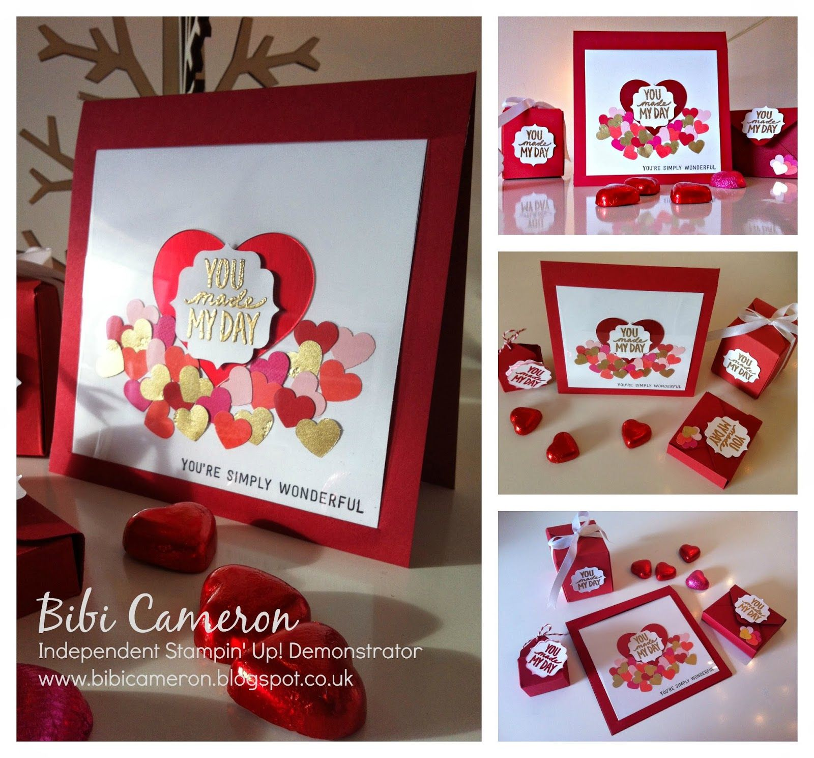 SAN VALENTINES CARD ♥  BEST DAY EVER AND SIMPLY WONDERFUL STAMP SETS FROM STAMPIN UP