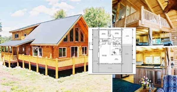 Delightful Log Cabin Wrap Around Deck Only 100 000 Must See Interior Floor Plans Log Homes Log Home Builders Cabin