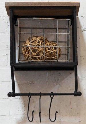 Storage Bin, Hanging Storage Unit, Wall Storage With Hooks | Bits Of  Vintage | Pinterest | Hanging Storage, Wall Storage And Organizations