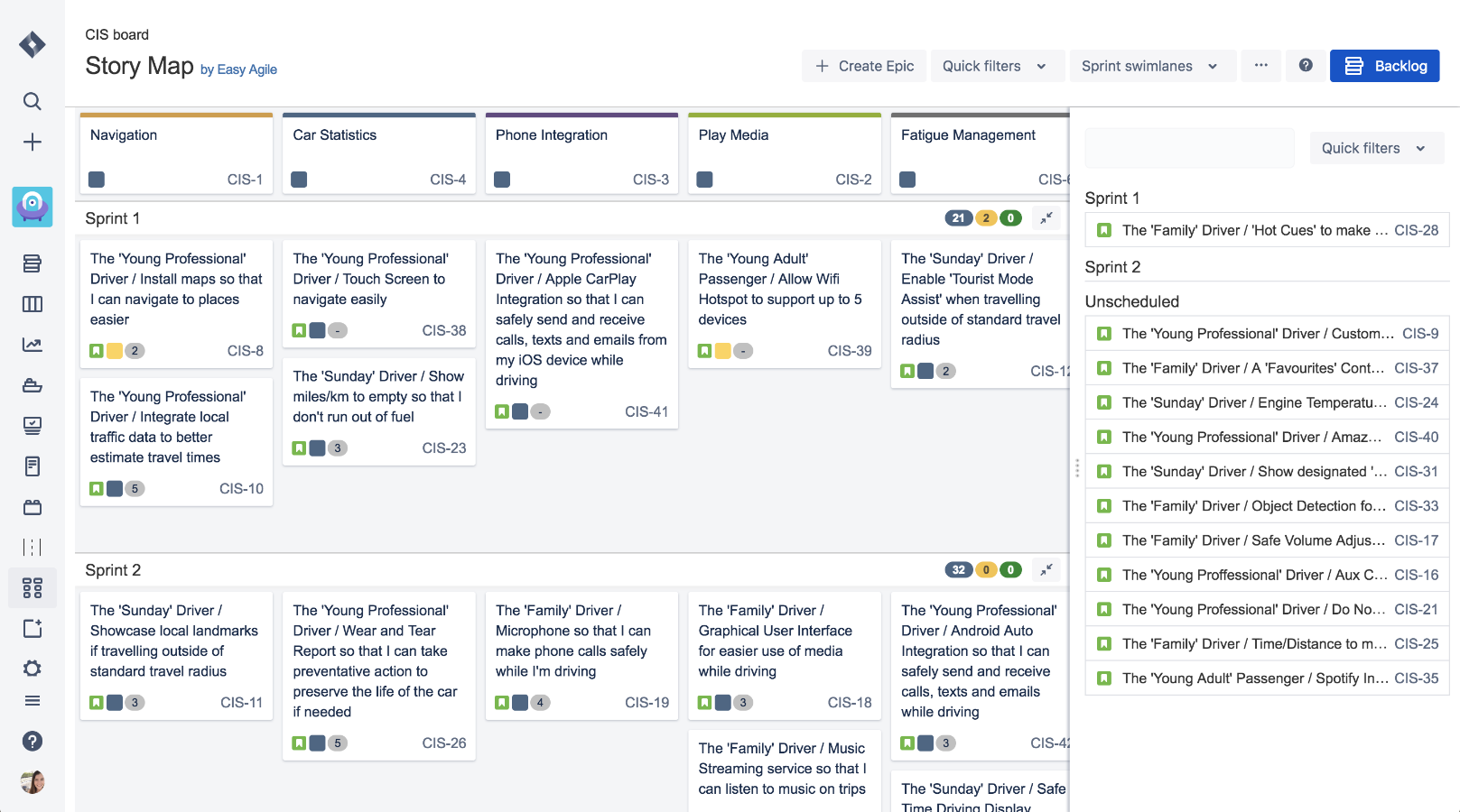 Easy Agile User Story Maps For Jira The Digital And Collaborative Story Mapping Solution For Jira User Story Mapping User Story Story Map
