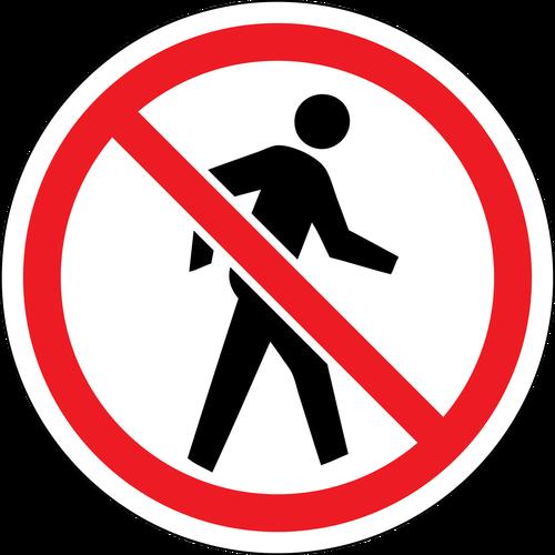 No People Sign Red Circle Custom Sign Wall Signs Circle