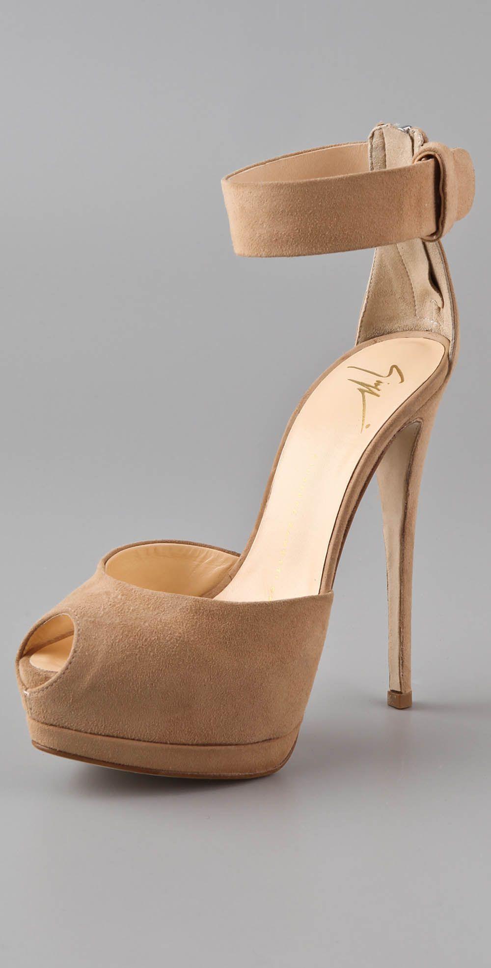 Giuseppe Zanotti Open Toe Platform Sandals. <3 <3