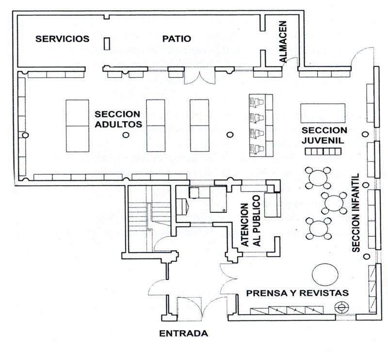 Resultado De Imagen Para Planos De Bibliotecas Escolares