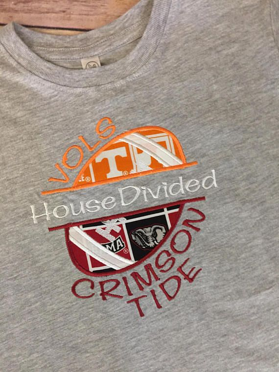 7abc238c032 House Divided College Shirt Alabama Tennessee Tee College ...