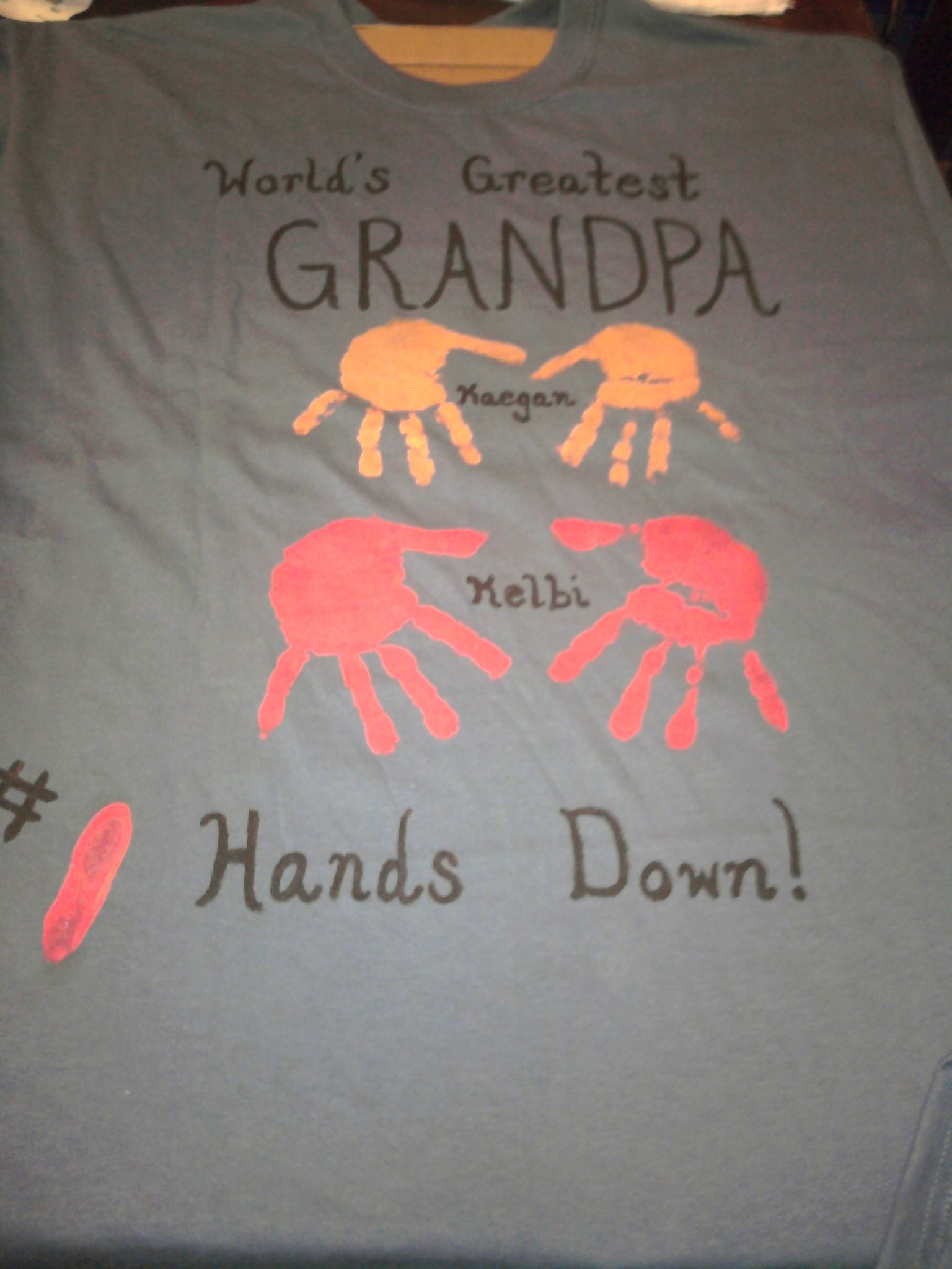 e9adc4e1e Father's day shirt for Grandpa. Fabric paint hand-prints. | Fathers ...