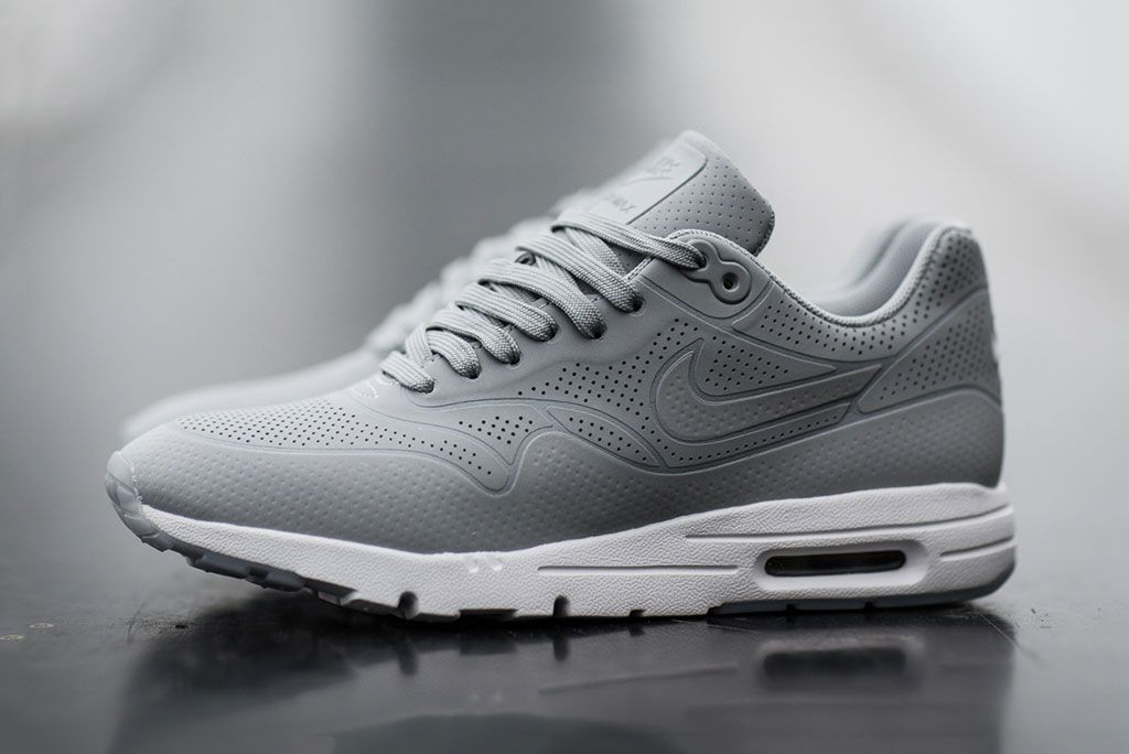 nike air max 1 mens trainers - black\/grey ribbon